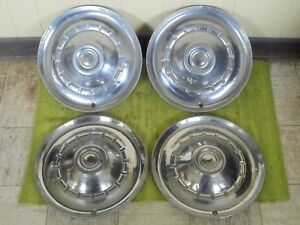 1953 Chrysler Hub Caps 15 Set Of 4 Mopar Wheel Covers Hubcaps 53