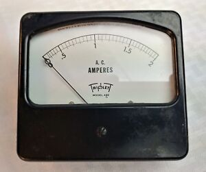 Ge Triplett Etc Panel Meters Ac Amperes Amps A select Range Usa Vintage