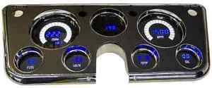 67 72 Chevy Gmc Truck Digital Dash Custom Cluster Gauges Blue And White Leds