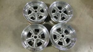 Vintage Shelby Mustang 5 Spoke Wheels 1966 1970 Includes Caps And Vintage Tires