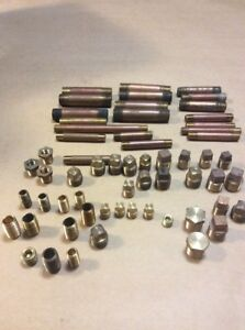 Brass Plumbing Lot Nipples Plugs Reducers Etc 1 8 To 3 8 65 Pieces