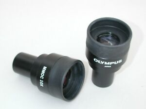 Olympus Microscope Mmoc 10x Eyepieces For 23mm Tube Sizes Nice