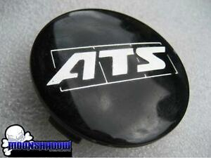 1 Used Ats Cup Alloy Wheel Rim Center Cap 1055 Black Chrome Logo 75mm