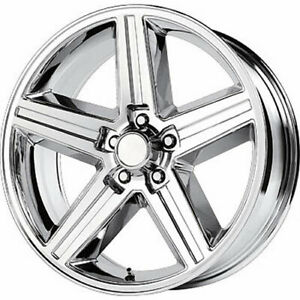 Wheel Replicas V1129 Iroc 20x8 5x120 65 5x4 75 0mm Chrome Wheels Rims