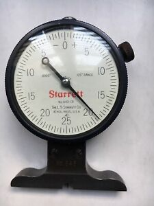 Starrett No 643 131 Dial Depth Gauge Knife Edge No 643