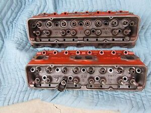 57 Corvette Original Fuel Injection Heads 3731539 283 Hp With X On The Side Rare