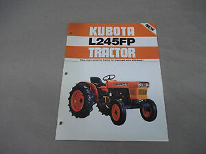 Kubota Diesel L245fp Tractor Sales Sheet With Specifications