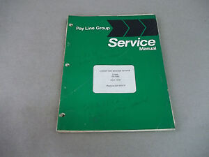 Pay Line Group Service Manual Loader And Backhoe Service 3121 3131 3141 1622
