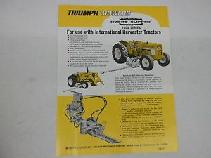 Triumph Mowers 2500 3500 Hydro Clippers Brochure For International Harvester