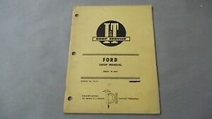 I T Shop Service Ford Shop Manual Series s 8000