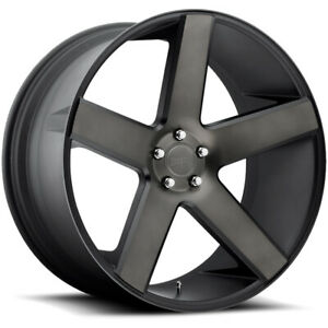 4 Dub S116 Baller 24x9 5x120 15mm Black Machined Tint Wheels Rims 24 Inch