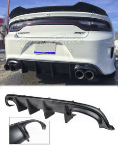 For 15 Up Dodge Charger Srt Rear Bumper Quad Exhaust Diffuser Factory Style