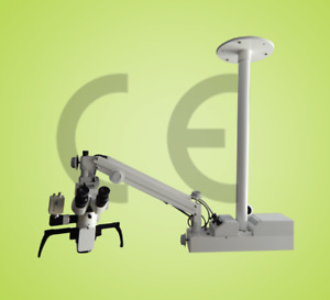 5 Step Ceiling Mount Dental Microscope with Beam Splitter ccd Camera led Monitor