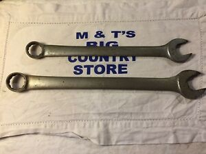 Blue point Usa 2pc 12 Pt Combination Wrenches Vintage 15 16 Oex30 1 1 16 Oex34