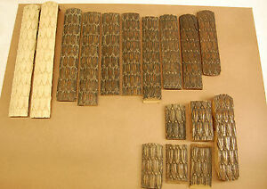 19th Century Hand Carved Walnut Strips Of Architectural Details