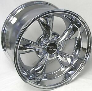 17 Chrome Deep Dish Mustang Bullitt Replica Wheels 17x9 17x10 5 5x114 3 94 04
