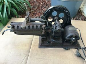 Rare Vintage Cast Iron Electric Flutter Maxant Master Motor Iron Works