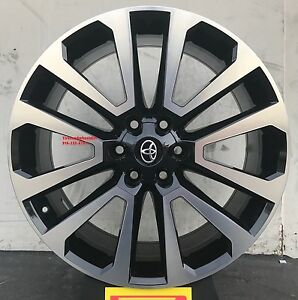 22 Lexus Gx Toyota Tundra Sequoia Lx 570 Wheels Tires Rims Black Tacoma 6lug