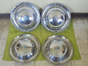 1954 Plymouth Hub Caps 15 Set Of 4 Wheel Covers Hubcaps 54
