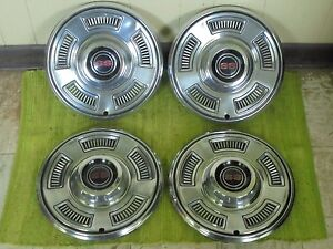 1967 Chevrolet Ss Hub Caps 14 Set Of 4 Chevy Hubcaps Chevelle Super Sport 67