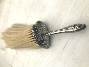 Antique English Sterling Silver Vanity Brush 7 75 Very Pretty Heart Shape