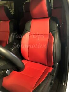 2016 2020 Tacoma Double Cab Sr5 Trd Katzkin Black Red Leather Seat Covers Kit