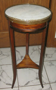 Late 19th Cent French Small Side Table Marble Top W Bronze Ormolu