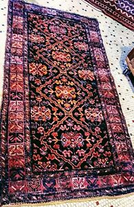 Persian Antique Tribal Hamadan Handmade Area Rug 4x7 Mult Colored