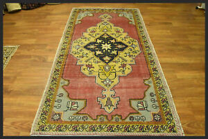 One Of A Kind Coral 4x8 Anatolian Turkish Oriental Area Rug