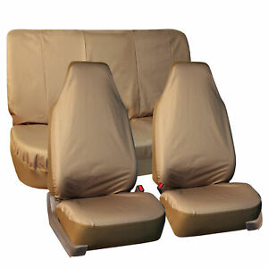 Oxford Water Resistant Waterproof Car Seat Protect Cover Full Protection Beige