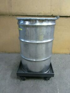 55 Gal Gallon 304 Stainless S s Open Top Barrel Drum W Dolly