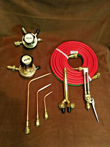 victor Cutting Torch Welding Set With Regulators Hose n tips smith Harris
