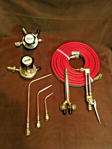victor Cutting Torch Welding Set With Regulators Hose n tips