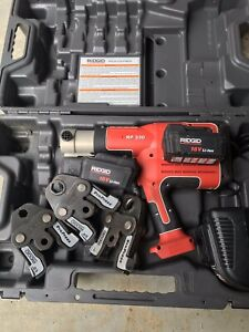 Ridgid Brand Propress Crimper Set Model Rp330 3 Jaws Great Condition
