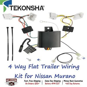 118660 Tekonsha T one 4 Way Flat Trailer Wiring Connector Kit For Nissan Murano