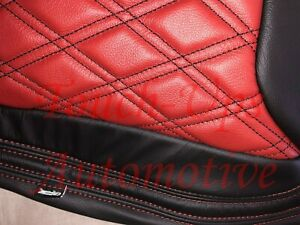 2013 2018 Jeep Wrangler Jk Katzkin Black Cardinal Red Leather Seats Tekstitch