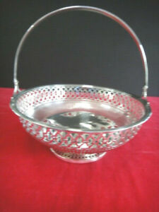 Sterling 1930 50 Wilcox Wagoner Nyc 6 5 Reticulated Basket Swing Handle Fine