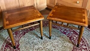 Pair Acclaim Occasional Tables Mid Century Modern Andre Bus For Lane Altavista