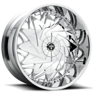 4 Dub S235 Dazr 26x10 5x4 75 5x5 5mm Chrome Wheels Rims 26 Inch