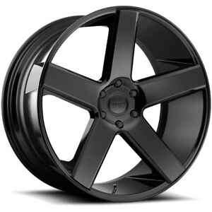4 Dub S216 Baller 22x9 5 5x5 11mm Gloss Black Wheels Rims 22 Inch