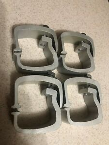 Four 4 Heavy Duty Aluminum Pickup Truck Softopper Camper Shell Mounting Clamps