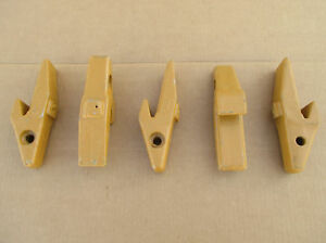 Set Of 5 8j7525 Caterpillar Style Weld On Adapters For 1u3202 J200 Bucket Teeth