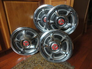 Set Of 4 1968 Dodge Charger Hubcaps Vintage Parts