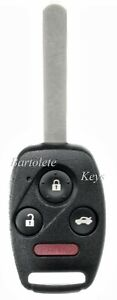 Replacement Remote Car Key Fob Fits Honda Crz Insight Crv Fit Accord Crosstour