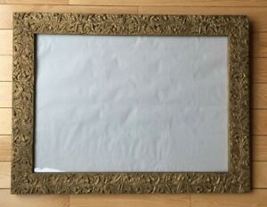 Antique Picture Frame Gold Floral Fits Art 24 X 17 Inches 3 8 Rabbet 1920s
