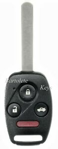 Replacement Remote Car Key Fob For 2006 2007 2008 Honda Pilot Ridgeline