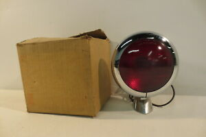 Vintage Nos S M 470c Red Stop Glass Lens Lamp Light Motorcycle Dodge Ford Chevy