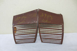 Nos 1939 Plymouth Coupe Sedan Convertible New Front Grille Grill Trim Nice Pair