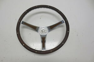 1960 S 1970 S Pontiac Chevy Ford Superior The 500 Steering Wheel Wood Walnut