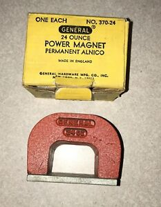 New General Alnico Power Horseshoe Magnet 24 Oz No 370 24